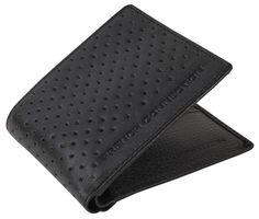 Men's Wallets | French Connection Perforated Wallet - Black | @ www.kjbeckett.com