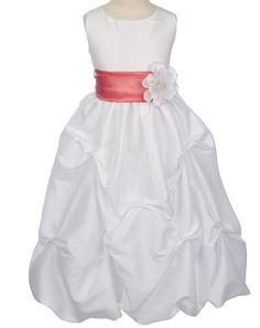 Our Number One Best Selling White Flower Girl Dress Ships Immediately. White Flower Girl Dresses, Taffeta Dress, Fun To Be One, Sash, Popular, Wedding Dresses, Classic, Collection, Style