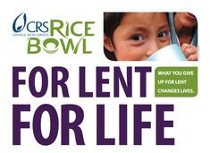 """When I was a child Lent was all about ashes, fish sticks, the Stations of the Cross, and the Rice Bowl. In those days it was called """"Operation Rice Bowl,"""" and I remember the excitement I had every Lent as I assembled my bowl and marveled at the fact that I could do something that would help suffering people around the world. As a child, I had very little understanding of money, and I don't think I really had a grasp on the impact that my small contribution would make... #CRSRiceBowl"""