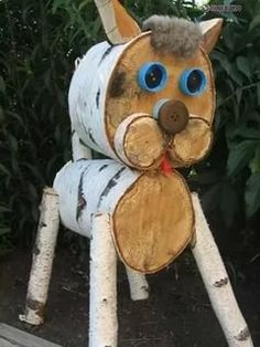make money by selling your crafts! Wood Log Crafts, Wood Slice Crafts, Rustic Crafts, Woodworking Books, Woodworking Projects, Crafts To Sell, Diy And Crafts, Log Decor, Mushroom Art