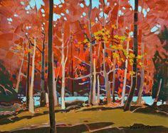 """Bright Counterpoint,"" by Robert Genn 16 x 20 - acrylic $5600 Unframed"