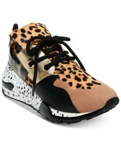 e1a835d8dde Steve Madden Women s Cliff Sneakers Leopard Sneakers
