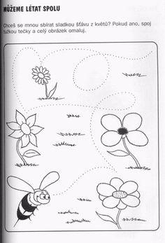 od květinky ke květince Line Drawing, Worksheets, Coloring Pages, Activities For Kids, Homeschool, Presents, Drawings, Creative, Blog