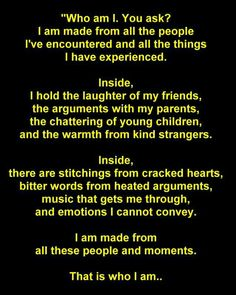 Life's Encounters......so true the journey we take....