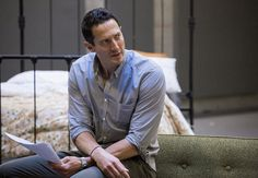 """Grimm"" stars Silas Weir Mitchell and Sasha Roiz appear in the Portland Center Stage production of ""Three Days of Rain."" Photo courtesy of Kate Szrom/Portland Center Stage."