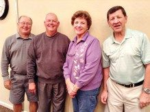 Left to right: Gil Butson, Jerry Fox, Mary Ann O' Brien and Bill Halte
