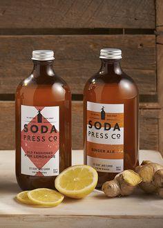 Ginger Ale & Pink Lemonade Natural Syrup Gift Pack | Krinkle Homewares & Gifts