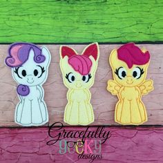 Pony Cuties Finger Puppet SET Embroidery Design - 4x4 Hoop or Larger