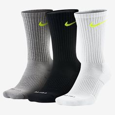 Nike Dri-FIT Half-Cushion Crew (3 Pair) Training Socks
