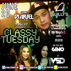 Classy Tuesdays tonight at your #No1ClubUpNorth #GuillysNightclub!