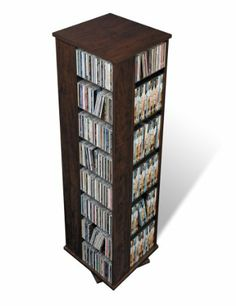 Organizing DVDs 4: Four sided Spinner, holds 1060 CDs... rota por los 4 lados, perfecto para CDs, DVDs, libros...
