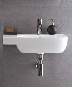 Contemporary Wash Basins Moda Basin with Shelf LH Merry Christmas Images, Shelves, Contemporary, Wall, Basins, Home Decor, Bathroom, Washroom, Merry Christmas Pictures