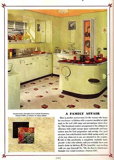 Dream Kitchens for 1939, Armstrong Cork Co.