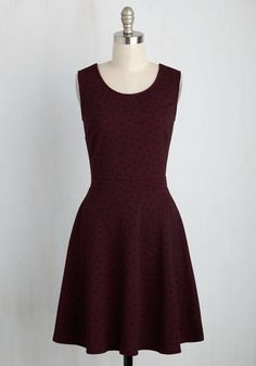 Twinkle in Time Dress in Burgundy, #ModCloth