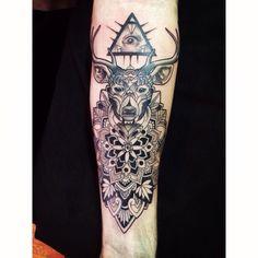 Deer mandala tatto