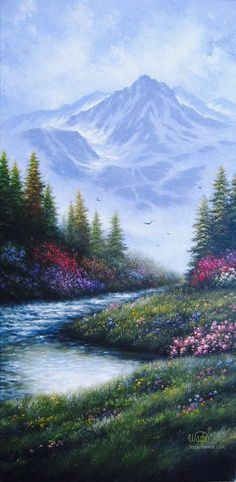Mountain Landscape Oil Painting Vickie Wade