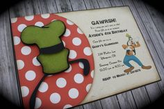 GOOFY+Invitation+by+kutekardz+on+Etsy,+$6.85