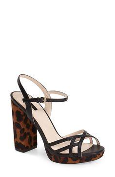 Topshop 'Lola' Ankle Strap Platform Sandal