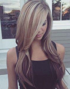my summer Hair Color - Balayage blonde highlights Balayage Highlights, Hair Color Balayage, Blonde Balayage, Pale Blonde, Color Highlights, Platinum Blonde, Bayalage, Thick Blonde Highlights, Balayage Straight