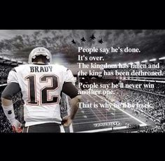 Tom Brady - The Best- New England Patriots Hate = fuel to his FIRE! haters, I just call em' fans ; Football Quotes, Football Love, Best Football Team, Nfl Football, Patriots Memes, Patriots Fans, Tom Brady News, New England Patriots Football, Go Pats