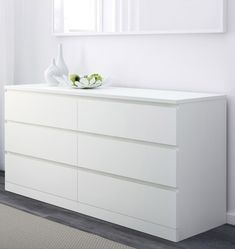 Room Ideas Bedroom, Small Room Bedroom, Home Decor Bedroom, White Bedroom Furniture, Bedroom Dressers, White Dressers, Dresser Drawers, Teen Dresser, Closet Dresser