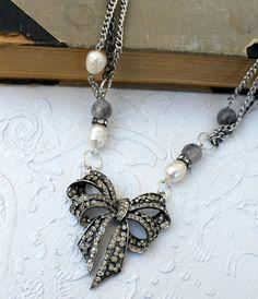 Vintage Rhinestone Pearls and Gemstones!
