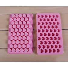 New 55 Mini Heart Cake Silicone Mold Chocolate Cookies Baking Mould