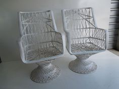 Hollywood Regency Mid Century Modern Fiberglass High Back Pair Wicker Chairs Project Ideas, Art Projects, Wicker Chairs, Hollywood Regency, Mid-century Modern, Mid Century, Outdoor, Ebay, Rattan Chairs