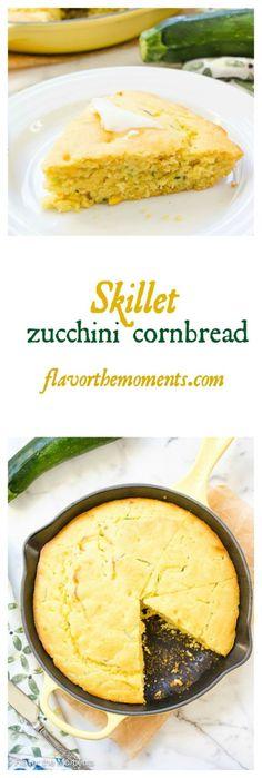skillet-zucchini-cornbread-collage | flavorthemoments.com