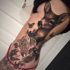 Image result for deer tattoos for women