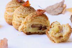 Gourmande (ils) disent: Choux pommes façon tatin et crème caramel au beurre salé
