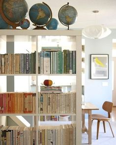 Ordinaire DIY Interior Decorating · Like The Bookshelf Wall And The Globes! Ikea  Expedit, Kallax, Bookcase, Bookshelves