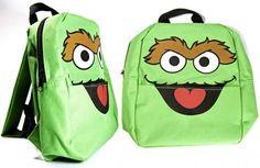 Click for Full Size Image of Sesame Street, Mini Backpack, Oscar