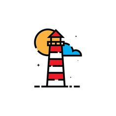 | L i g h t h o u s e |  #vector#flatdesign#iconaday#instaartist#design#graphicdesign#art#flatart#simplicity#graphicgang#illustrator#graphicdesigncentral#instagood#visforvector#designinspiration#gfxmob#icon#dribbble#lighthouse#linework#love#ocean#travel#sea#beauty#boat by williamkcreative
