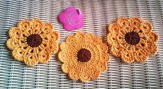 bases para copo / caneca em crochet