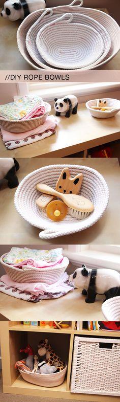 DIY rope bowls