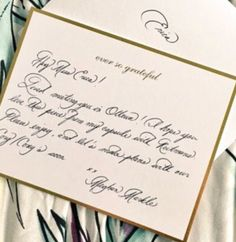 Meghan Markle has a talent with her elegant use of Calligraphy - but it is tricky for us Graphologists! What do you think?pic.twitter.com/rcE5jZsE9O