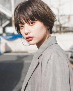 Shot Hair Styles, Curly Hair Styles, Short Hairstyles For Women, Girl Hairstyles, Hair Inspo, Hair Inspiration, Pelo Bob, Aesthetic Hair, Love Hair
