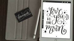 Hand Lettering with the iPad Pro Apple Pencil - Ipad Pro - Trending Ipad Pro for sales. - Hand Lettering with the iPad Pro Apple Pencil Ipad Pro, Cheap Apple Products, Apple Watch Iphone, Apple Ipad, Dawn Nicole, Pencil, Typography, Moon, Calligraphy