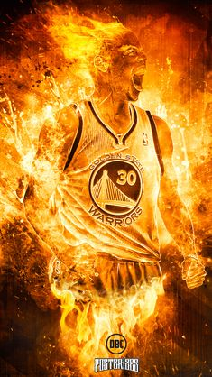 Stephen Curry 'Human Torch' Wallpaper | Posterizes | NBA