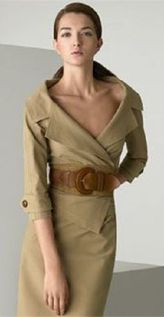 Donna Karan Collection Belted Shirt Jacket