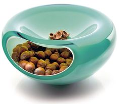 pistachio bowl - should be pistachios above and discard shells below