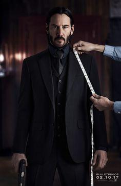 Luca Mosca (Costume Designer) Custom Made Three-Piece Suit as seen on John Wick in John Wick: Chapter 2 | TheTake