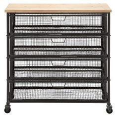 Deco 79 50265 Metal Wood Storage Cart, x Natural Iron Storage, Cd Storage, Storage Cart, Storage Ideas, Basket Storage, Storage Units, Storage Organization, Storage Cabinet With Drawers, Metal Storage Cabinets