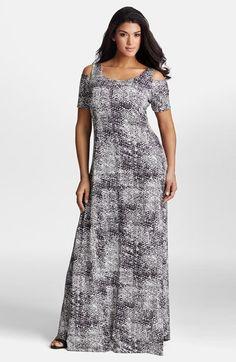 Plus Size Women\'s Karen Kane V-Neck T-Shirt Dress, Size 1X - Black ...