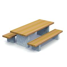 STREETLIFE Solid Picnic Set. An attractive picnic set for public space #Streetfurniture #PicnicTable #ParkBench
