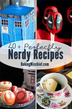 40+ of my favorite nerdy recipes inspired by books, television, and movies. Recipes for everything from 'Game of Thrones' and 'The Walking Dead' to 'Star Wars' and the Marvel Cinematic Universe!