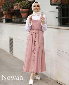 Pink strapless dress with a white shirt , , , Modest Outfits Muslim, Modest Fashion Hijab, Modern Hijab Fashion, Hijab Casual, Hijab Fashion Inspiration, Muslim Wedding Dresses, Dress Casual, Dress Wedding, Fashion Dresses