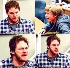 This is by far my favorite Andy scene #andydwyer #gregpikitis #chrispratt #parksandrec #parksandrecreation