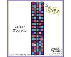 Pattern for Peyote Bracelet Color Matrix  by VikisBeadingPatterns, $6.50